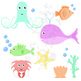 Sea Animals Clipart / Ocean Clipart / Ocean Creatures Graphics