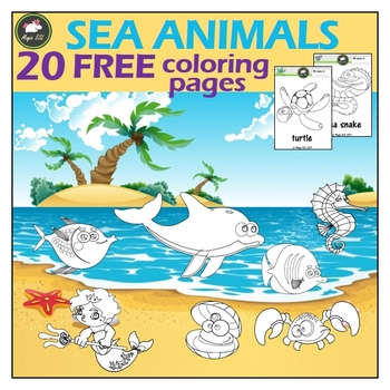 Sea Animals Coloring Pages Teaching Resources | Teachers Pay Teachers
