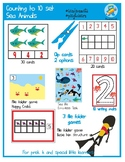 Sea Animals Counting to 10. 6 hands-on resources Set. Special Education.