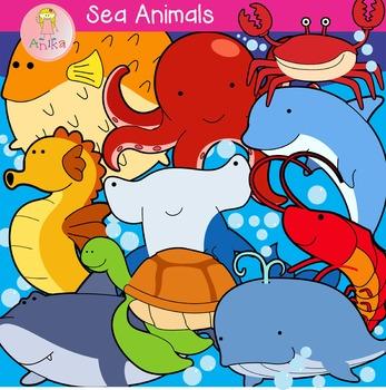 Sea Animals Cute Clip Art