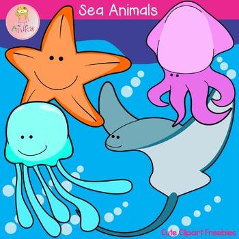 Sea Animals Cute Clip Art Freebies