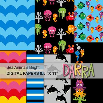 Sea Animals Digital Papers