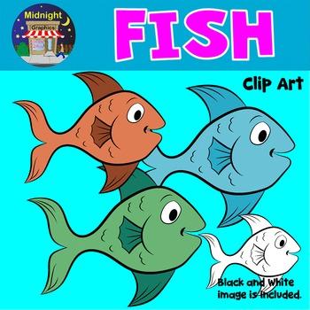 Sea Animals Clip Art - Fish