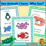Sea Animals / Ocean Animals 'I have...Who has?' Game Cards