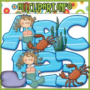 Sea Animals Lettering Delights Alphas - Cheryl Seslar Clip Art