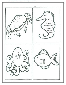 Sea Animals Logic Line Up NO PREP!!! Common Core