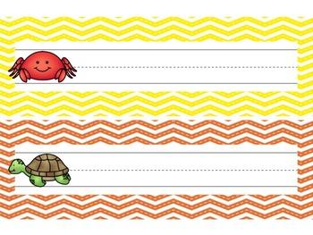 Nameplates / Deskplates / Classroom Labels {Sea Animals}