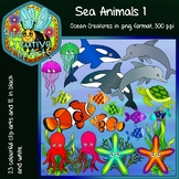 Sea Animals Ocean Life Clip Art 1