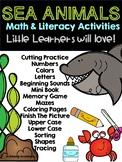 Sea Animals Preschool Math and Literacy Activities