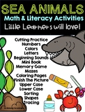 DISTANCE LEARNING. Sea Animals Preschool Math and Literacy Activities