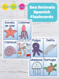 Sea Animals Spanish Flashcards