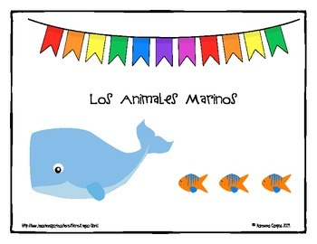 Sea Animals Vocabulary Match (word/picture)- Animales del Mar
