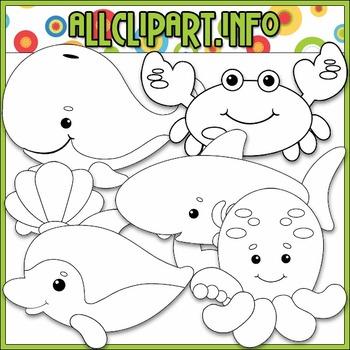 BUNDLED SET - Sea Babies Clip Art & Digital Stamp Bundle
