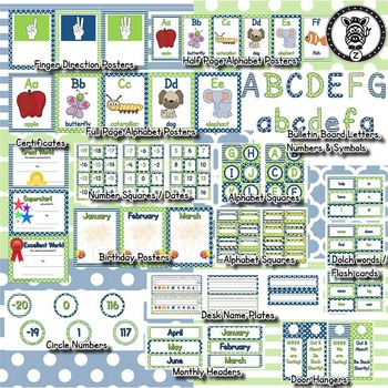 Classroom Theme Decor / Organization - Mega Bundle - Sea Breeze