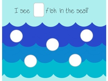 Sea Count 1-10 One Fish, Two Fish, Red Fish, Blue Fish!