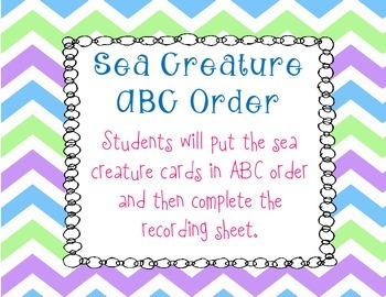 Sea Creature ABC Order