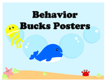 Sea Creature Behavior Bucks Posters