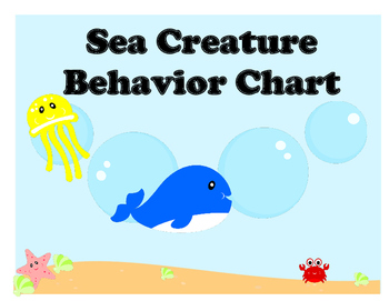 Sea Creature Behavior Chart