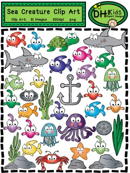 Sea Creature Clip Art