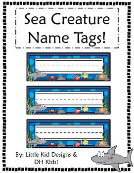 Sea Creature Name Tags - Printable Name Tags
