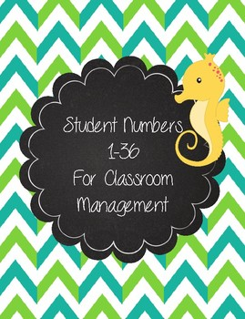 Sea Creature Numbers 1-36 for Student Organization