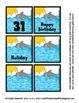 Sea Creature Ocean Animal Theme Calendar Pieces Memory Game Preschool