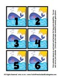 Sea Creature Ocean Animal Theme Calendar Pieces Memory Gam
