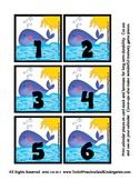 Sea Creature Ocean Animal Theme Calendar Pieces Memory Gam