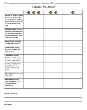 Sea Creature Research Report – Create a PowerPoint presentation