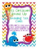 Sea Creature Round Up: Rounding Task Cards