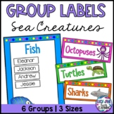 Sea Creature Theme Group Labels
