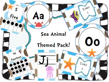 Sea Creature Themed Decorations Pack