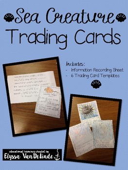 Sea Creature Trading Cards (FREE for first 100 downloads!)