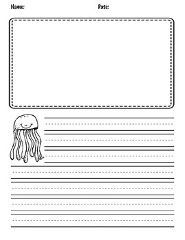 Sea Creature Writing Paper Set