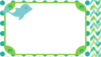 Sea Creatures Bright Polka Dots and Chevron Editable PowerPoint Backgrounds