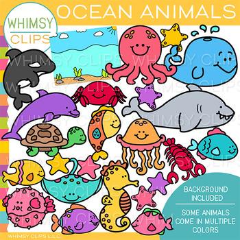 Ocean Animals Clip Art