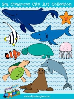 Sea Creatures Clip Art