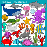 Sea Creatures Clip Art, Ocean Animals