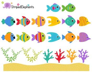 Sea Creatures Clip Art - Under the Sea Clip Art