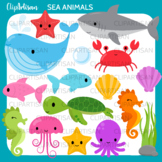 Sea Animals Clip Art, Ocean Creatures