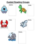 Sea Creatures Guided Reading Groups