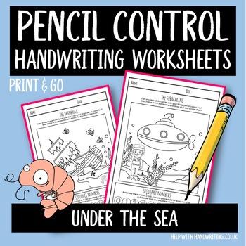 Sea Creatures Handwriting Sheets