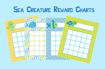 Sea Creatures Incentive Reward Charts