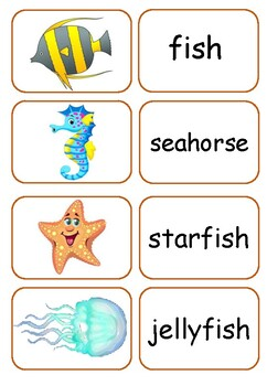 Sea Creatures Matching Game
