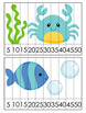 Sea Creatures Number Counting Strip Puzzles - 8 Different