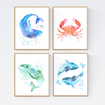 photo about Printable Sea Creatures known as Sea Creatures, Ocean Pets, Printable Clroom Decor 8x10 11x14 16x20