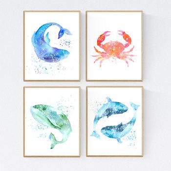 photograph relating to Ocean Animals Printable known as Sea Creatures, Ocean Pets, Printable Clroom Decor 8x10 11x14 16x20