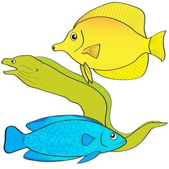 Sea Creatures Clip Art - Undersea World