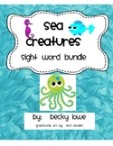 Sea Creatures Sight Word Bundle--Write the Room, and other