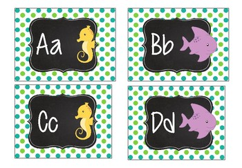 Sea Creatures Word Wall Letters